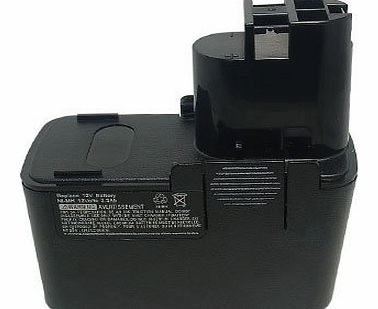 [ 1700mAh,Ni-Cd,12.00V ], Replacement Power Tools Battery for BOSCH 2 607 335 054, 2 607 335 055, 2 607 335 071, 2 607 335 081, 2 607 335 090, 2 607 335 107, 2 607 335 108, 2 607 335 143, 2